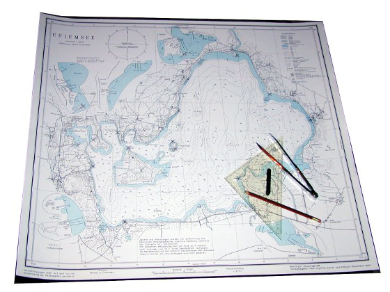 Chiemsee Karte.Chiemsee Segeln Die Chiemsee Karte